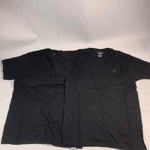 (2) Champion Men's Classic Jersey T-Shirt, Black,